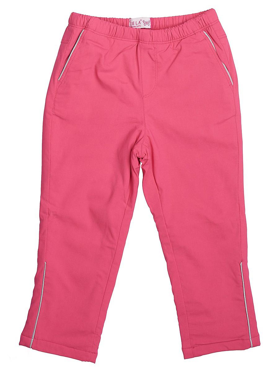 БрюкиPpf-525/103-7111Модные брюки для девочки Sela отличной подойдут для прогулок и игр на свежем воздухе. Брюки выполнены из вискозы с добавлением эластана и нейлона на подкладке из полиэстера. Модель имеет пояс на мягкой резинке и дополнена двумя втачными карманами.