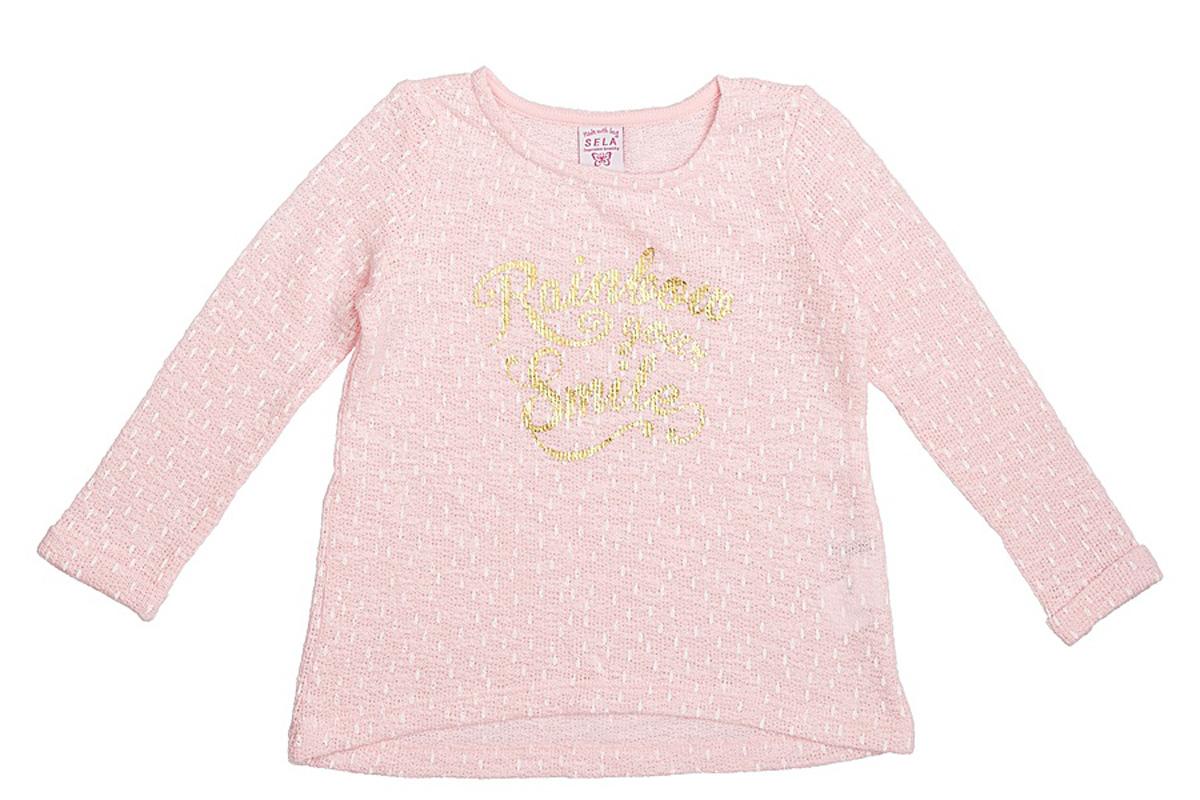 СвитшотSt-513/072-7121Стильный свитшот для девочки Sela выполнен из качественного трикотажа и оформлен яркой надписью. Модель слегка расклешенного кроя подойдет для прогулок и дружеских встреч и будет отлично сочетаться с джинсами и разными брюками. Мягкая ткань на основе хлопка и полиэстера комфортна и приятна на ощупь.