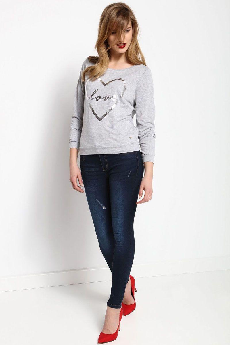 ЛонгсливSBL0475SZЛонгслив женский Top Secret выполнен из полиэстера и вискозы. Модель с круглым вырезом горловины и длинными рукавами.