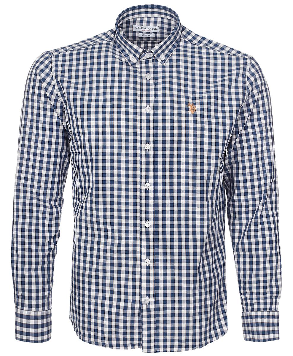 РубашкаG081GL004AVILEMENIKE16K_VR033Мужская рубашка U.S. Polo Assn. выполнена из натурального хлопка. Рубашка с длинными рукавами и отложным воротником застегивается на пуговицы спереди. Манжеты рукавов также застегиваются на пуговицы. Рубашка оформлена принтом в клетку. На груди модель украшена небольшой вышивкой с логотипом бренда.