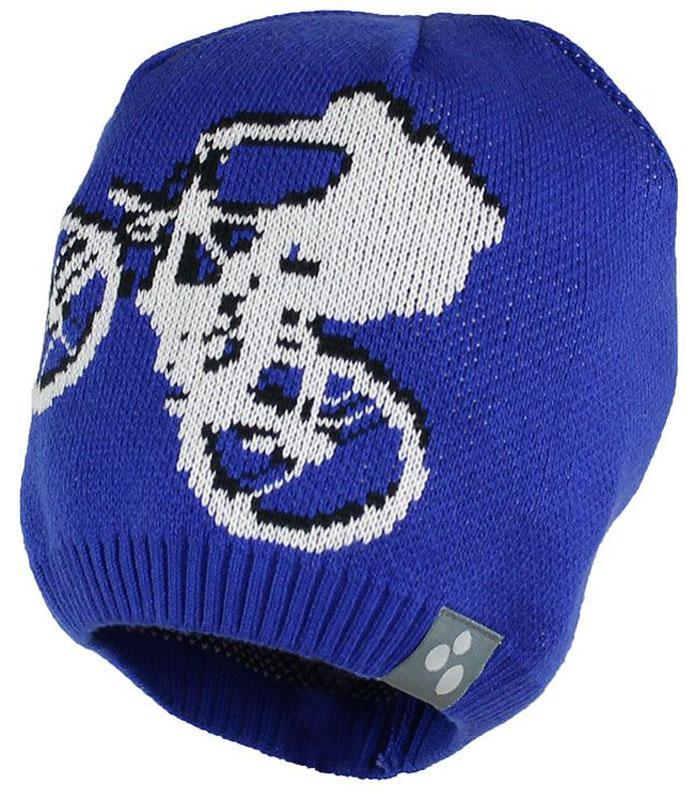 Шапка детская80130000-70009Теплая яркая вязаная шапочка Huppa Paul с принтом согреет вашего ребенка в прохладную погоду. Шапочка изготовлена из хлопка с добавлением акрила.