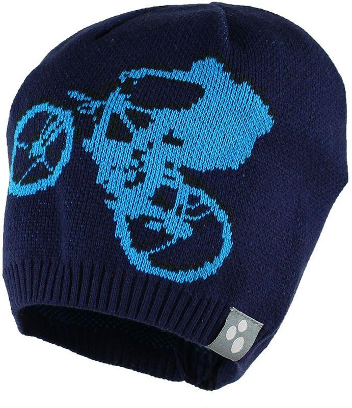 Шапка детская80130000-70009Теплая яркая вязаная шапочка с принтом согреет вашего ребенка в прохладную погоду.
