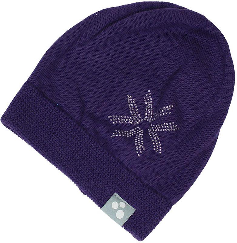 Шапка детская80370000-70004Теплая вязаная шапочка Huppa Erika согреет вашего ребенка в прохладную погоду. Шапочка декорирована стразами.