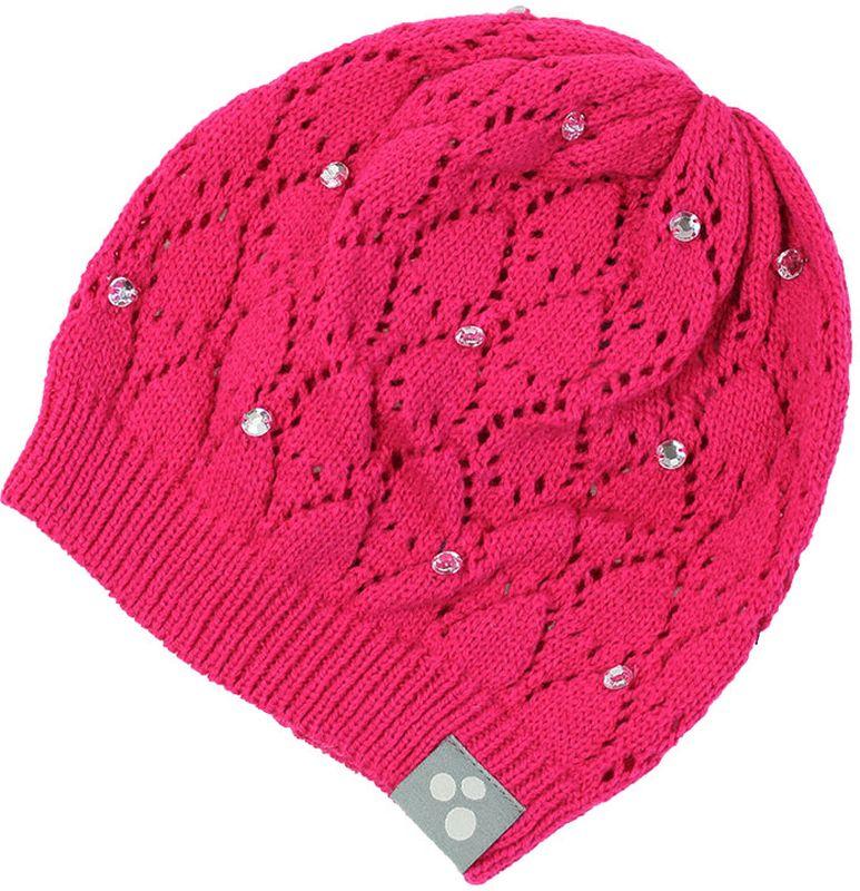 Шапка детская80390000-70004Вязаная шапочка Huppa Lacy согреет вашего ребенка в прохладную погоду. Шапочка с ажурным рисунком декорирована стразами.
