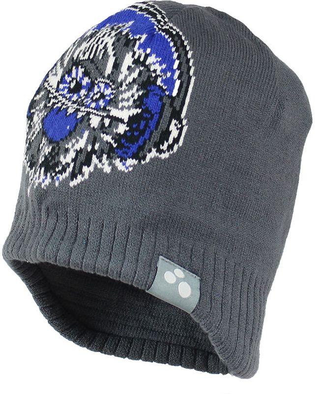 80400000-70046Теплая яркая вязаная шапочка с принтом согреет вашего ребенка в прохладную погоду.