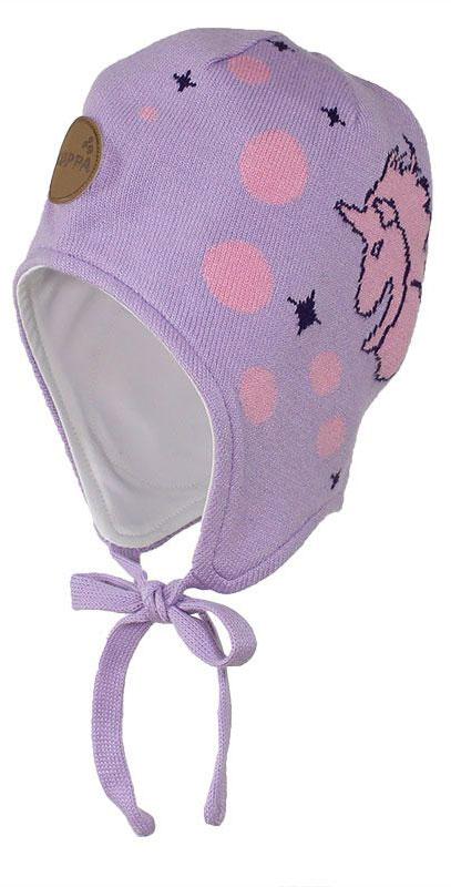 Шапка детская83710000-70020Шапка для девочки Huppa Silby выполнена из высококачественной пряжи из хлопка с добавлением акрила. Подкладка изготовлена из натурального хлопка. Модель дополнена завязками и имеет утепленные вставки в области ушей. Шапка фиксируется при помощи завязок, оформлена оригинальным рисунком с изображением единорога.