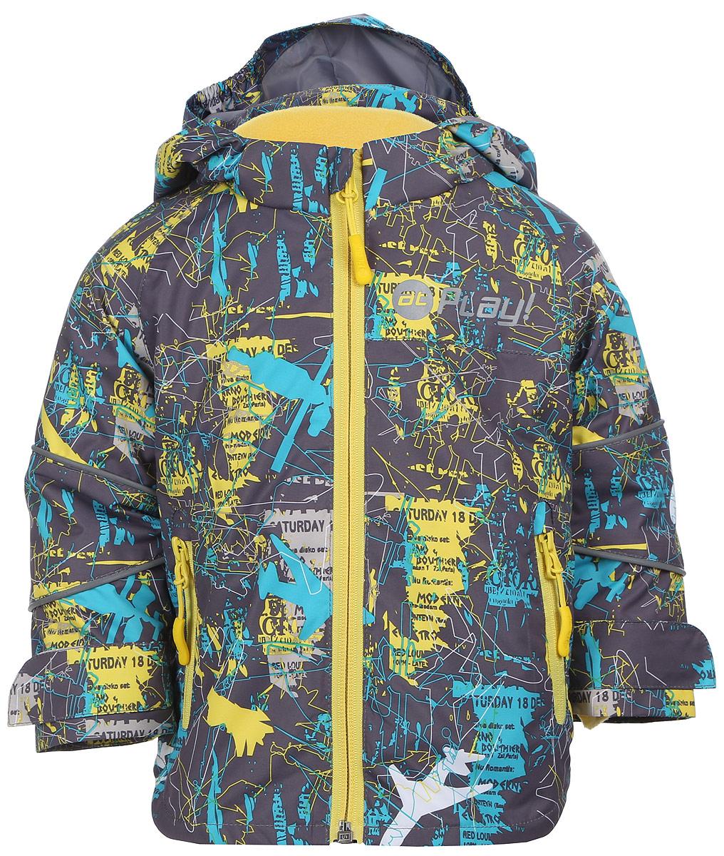 Куртка2jk704Удобная и комфортная куртка для мальчика atPlay! выполнена из качественного полиэстера, с покрытием Teflon от DuPont, которое облегчает уход за этой одеждой. Дышащая способность: 5000г/м и водонепроницаемость куртки: 5000мм. Куртка 2 в 1 с отстегивающейся флисовой поддевкой-кофточкой из материала Polar fleese, которая служит как утеплитель, а также ее можно носить отдельно. Такая кофточка отличное решение для весеннего периода, к тому же она изготовлена с антипиллинговой обработкой ворса для сохранения качественных характеристик на более длительный срок. Куртка с воротником-стойкой и отстегивающимся капюшоном застегивается на молнию с защитой подбородка. Манжеты рукавов дополнены широкими утягивающими хлястиками на липучках. Спереди модель оформлена двумя прорезными карманами на застежках-молниях, с внутренней стороны на поддевке-кофточке расположены два накладных кармана. Куртка оснащена светоотражающими полосками на рукавах и оформлена стильным...