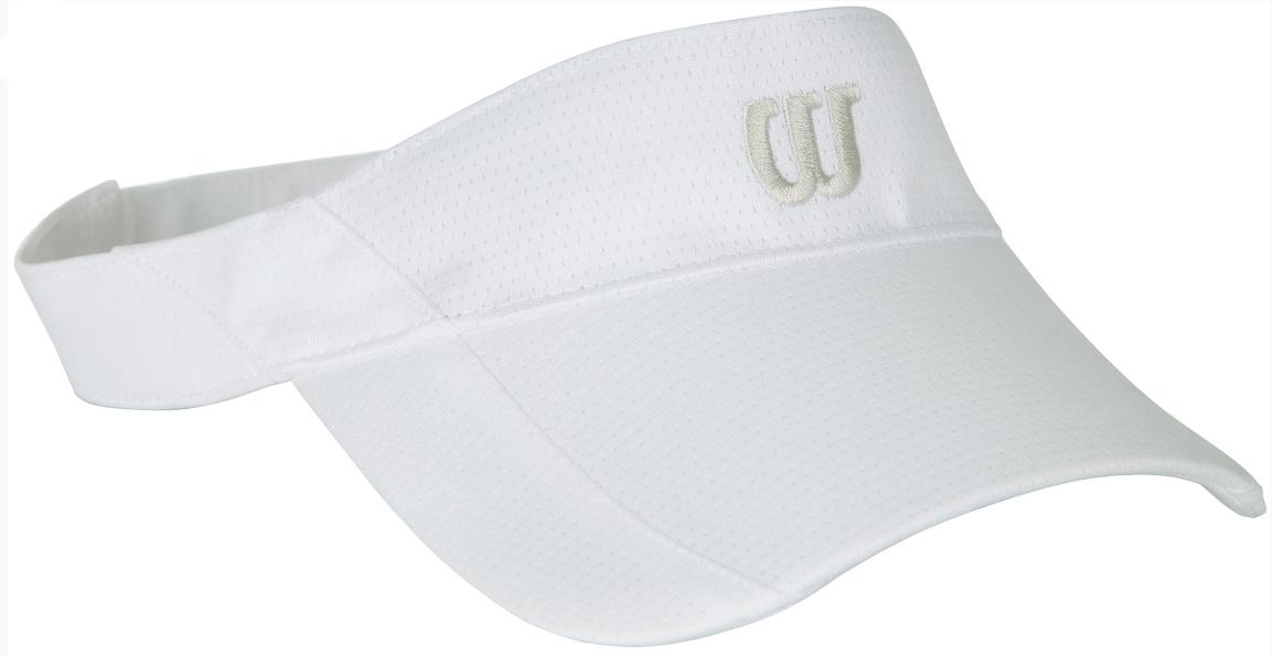 WR5005100Стильный теннисный козырек от Wilson для защиты от прямых солнечных лучей во время игры в теннис.