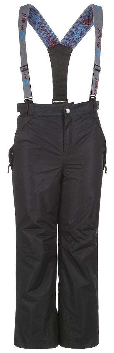 3pt718Удобные и функциональные детские брюки atPlay! идеально подойдут вашему ребенку в прохладное время года. Верх изделия изготовлен из качественного полиэстера, с покрытием Teflon от DuPont, которое облегчает уход за этой одеждой. Дышащая способность: 5000г/м и водонепроницаемость брюк: 5000мм, также они имеют водо- и грязеотталкивающую пропитку. Подкладка выполнена из ворсового полотна, гладкой стороной к ноге, чтобы нога скользила в брючине. Удобные и функциональные брюки прямого покроя застегиваются на кнопку и липучку в поясе, а также имеют ширинку на застежке-молнии. Сзади на поясе предусмотрена широкая резинка и по бокам пришиты дополнительные хлястики на липучках. Съемные эластичные наплечные лямки регулируются по длине и крепятся к поясу. Спереди находятся два втачных кармашка на застежках-молниях. Низ брюк укреплен специальной вкладкой, стойкой к износу и оформлен боковыми застежками-молниями с клапанами на кнопках. Подкладка по низу брючин...