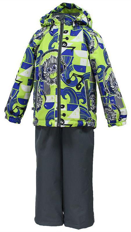 41190104-72247Комплект верхней одежды для мальчика Huppa Yoko выполнен из износостойкого полиэстера и состоит из куртки и брюк. В качестве подкладки и утеплителя используется полиэстер. Ткань имеет водонепроницаемость 10000 мм, воздухопроницаемость 10000 г/м2. Брюки застегиваются на молнию и металлическую кнопку. Изделие дополнено съемными резиновыми подтяжками, длину которых можно регулировать. На талии имеется вшитая эластичная резинка. Снизу брючин предусмотрены шнурки-утяжки со стопперами. Куртка со съемным капюшоном и воротником-стойкой застегивается на молнию. Капюшон пристегивается при помощи кнопок. Манжеты рукавов собраны на внутренние резинки, низ куртки оснащен эластичным шнурком. Спереди модель дополнена двумя врезными карманами. Комплект оснащен светоотражающими элементами.