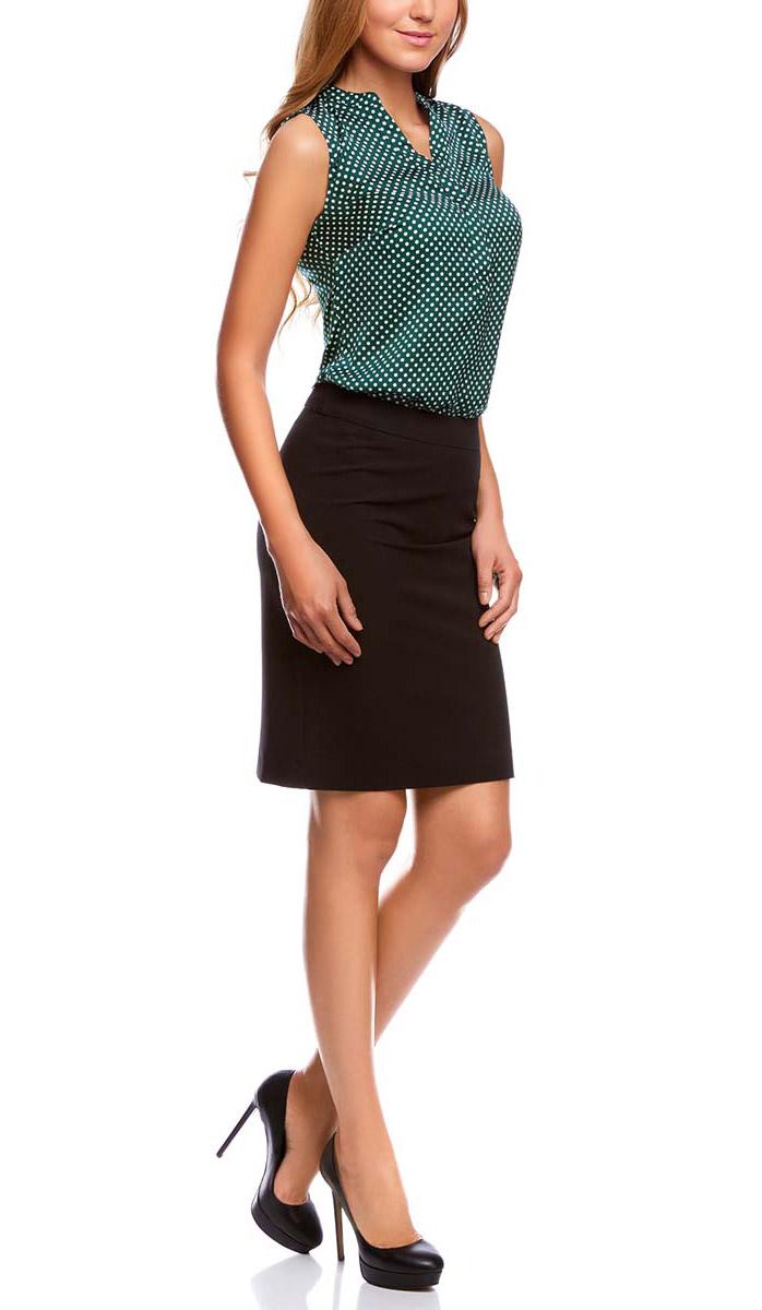 Блузка21400388-3/35542/7912EЖенская блузка oodji Collection выполнена из 100% полиэстера. Модель с V- образным вырезом горловины застегивается на пуговицы.