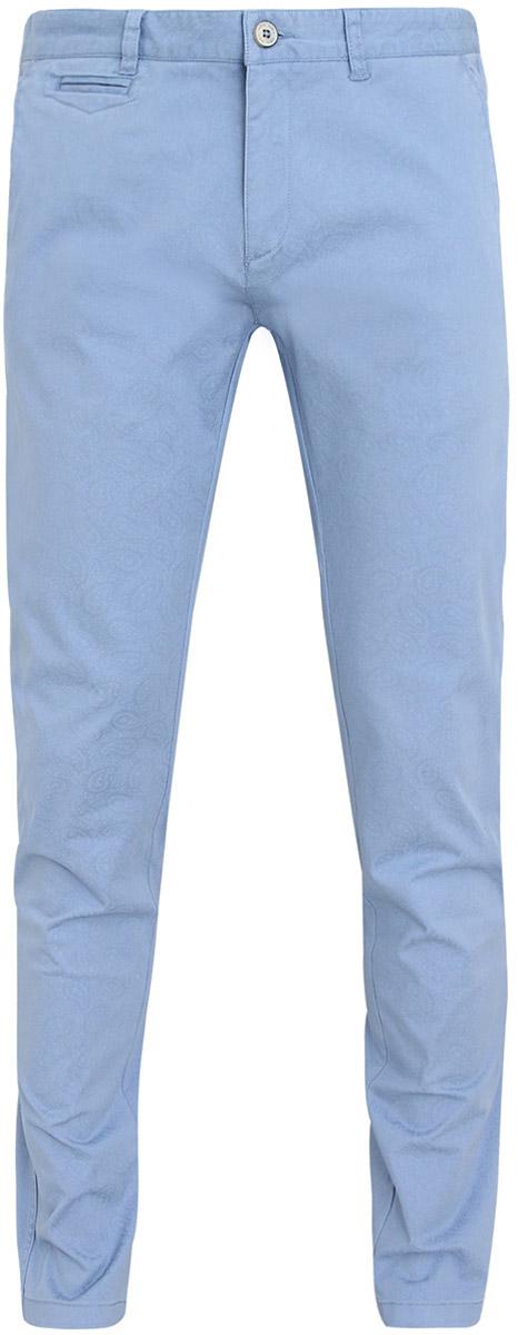 Брюки2L150021Q/39428N/7074EМужские брюки oodji Lab выполнены из высококачественного материала. Модель-слим стандартной посадки застегивается на пуговицу в поясе и ширинку на застежке-молнии. Пояс имеет шлевки для ремня. Спереди брюки дополнены втачными карманами, сзади - прорезными.