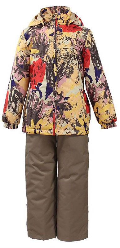 41260014-71173Комплект верхней одежды для девочки Huppa Yonne выполнен из износостойкого полиэстера и состоит из куртки и брюк. В качестве подкладки и утеплителя используется полиэстер. Ткань имеет водонепроницаемость 10000 мм, воздухопроницаемость 10000 г/м2. Брюки с высокой грудкой застегиваются на молнию. Изделие дополнено мягкими резиновыми лямками, регулируемыми по длине. На талии сзади и по бокам предусмотрена вшитая эластичная резинка. Снизу брючин предусмотрены шнурки-утяжки со стопперами. Куртка со съемным капюшоном и воротником-стойкой застегивается на застежку-молнию. Капюшон пристегивается при помощи кнопок. Манжеты рукавов и спинка на талии собраны на внутренние резинки. Спереди модель дополнена двумя врезными карманами. Комплект оснащен светоотражающими элементами.