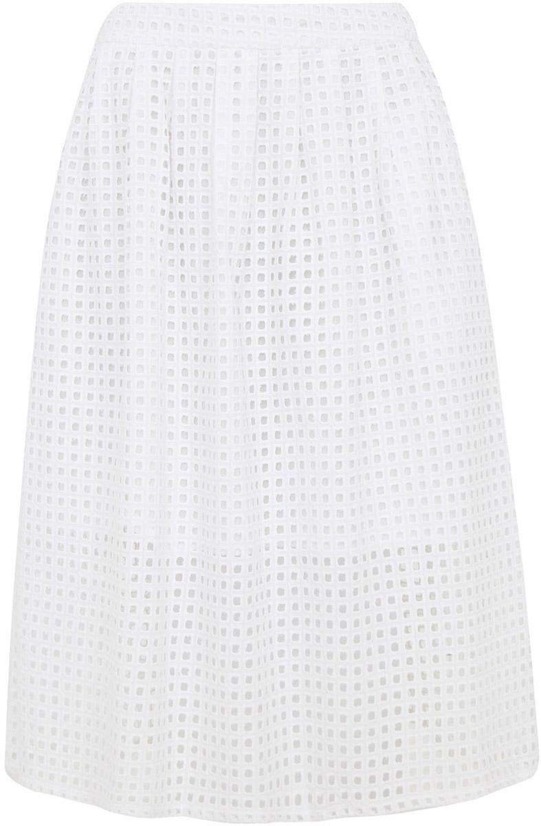 Юбка11600385/42656/1000NЛетняя юбка средней длины выполнена из натурального хлопка. Модель застегивается на потайную застежку-молнию.