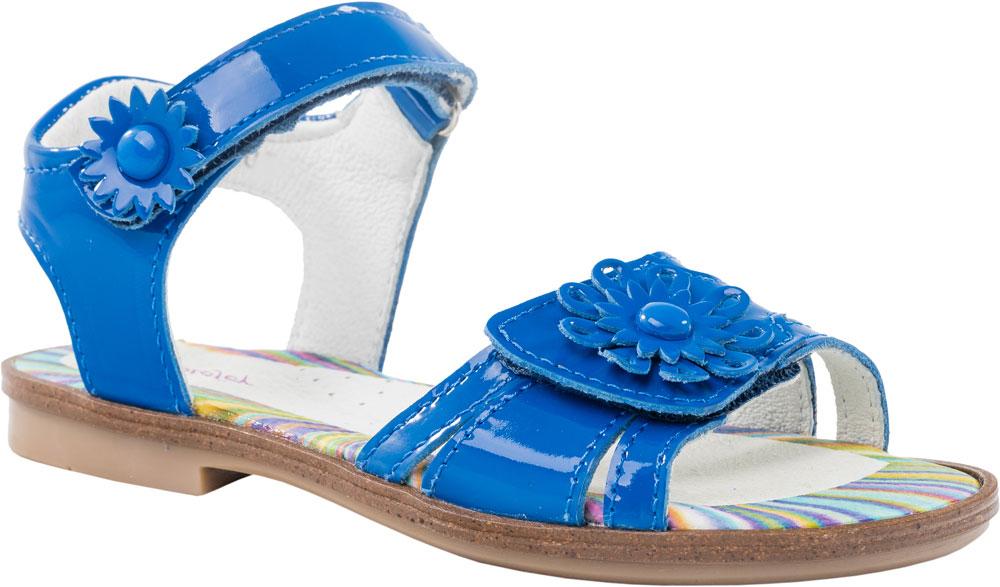 Босоножки522091-21Модные босоножки для девочки от Котофей выполнены из натуральной лакированной кожи. Внутренняя поверхность и стелька из натуральной кожи обеспечат комфорт при движении. Ремешки с застежками-липучками, оформленные декоративными цветками, надежно зафиксируют модель на ноге. Подошва дополнена рифлением.