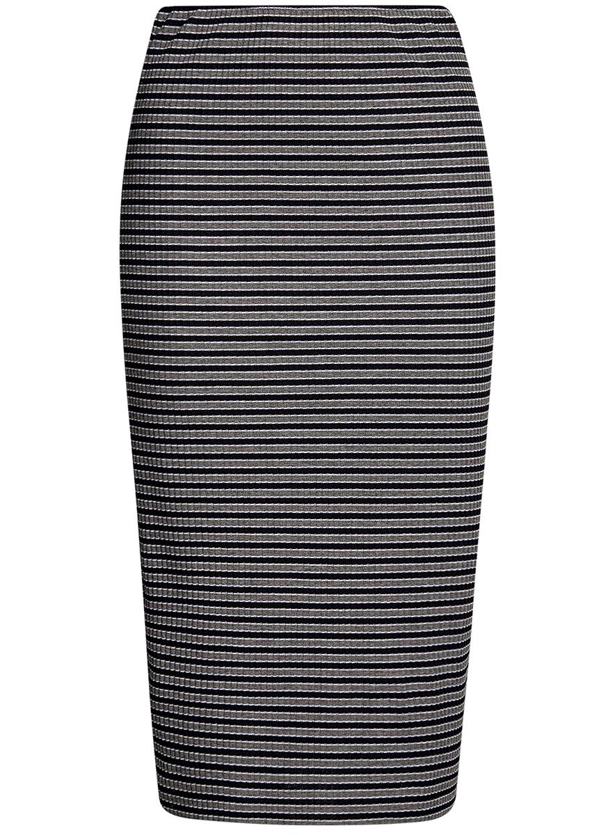 Юбка14101086/46502/2529SСтильная юбка-карандаш на резинке выполнена из ткани в рубчик.