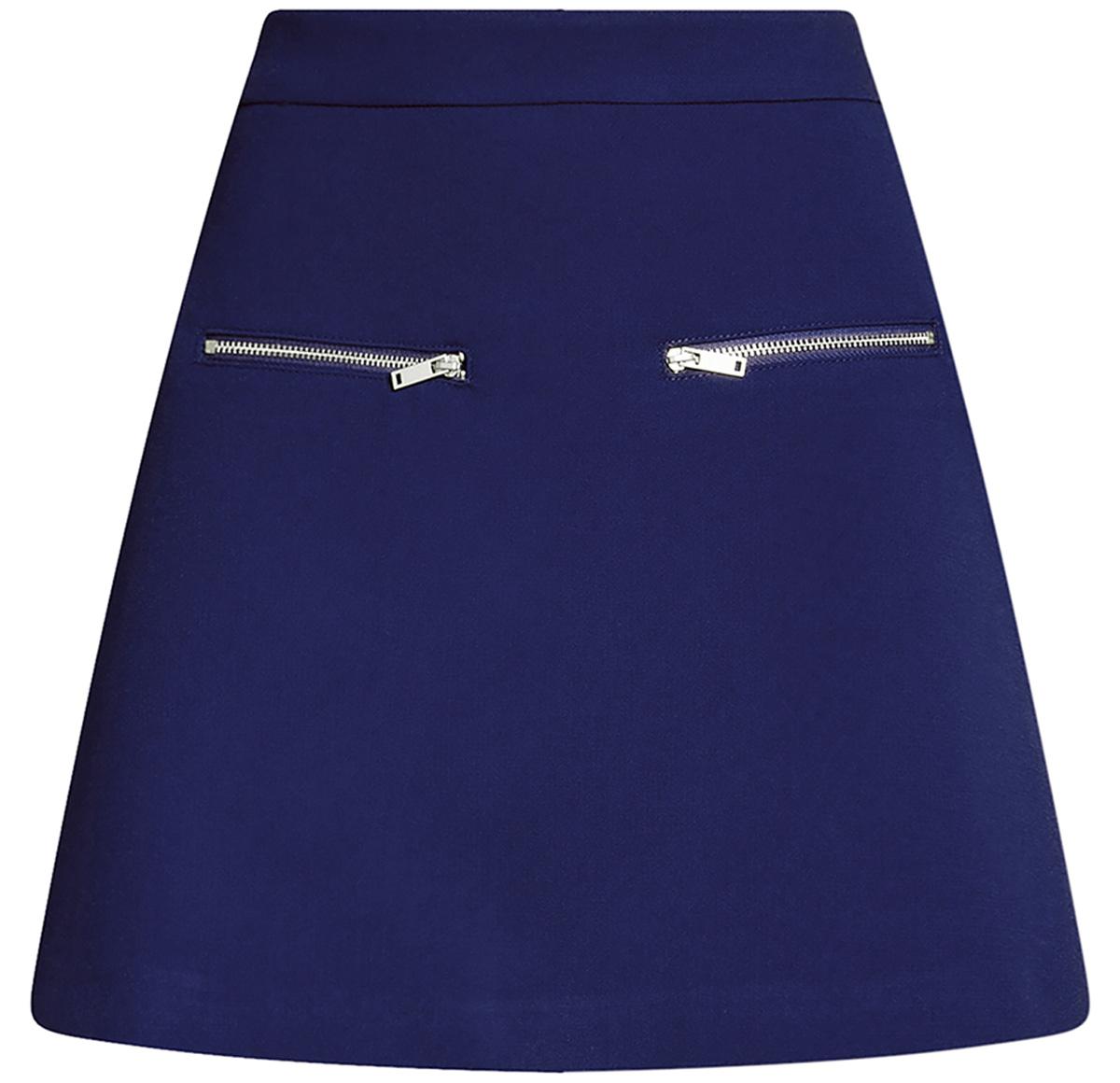 Юбка11600436/31291/1200NСтильная мини--юбка в форме трапеции выполнена из высококачественного материала. Спереди модель декорирована металлическими молниями. Сзади юбка застегивается на потайную застежку-молнию.
