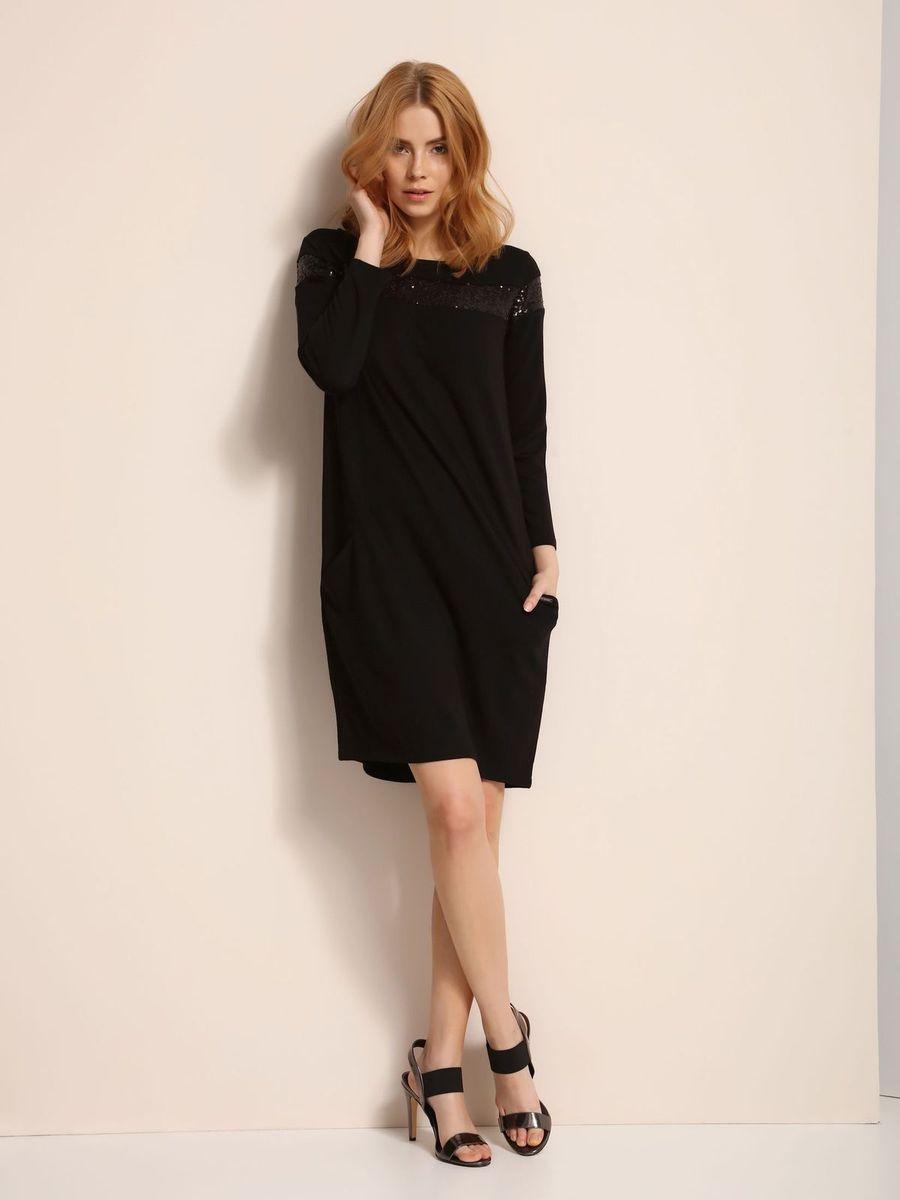 ПлатьеSSU1775CAПлатье Top Secret выполнено из полиэстера, вискозы и эластана. Модель с круглым вырезом горловины и длинными рукавами.