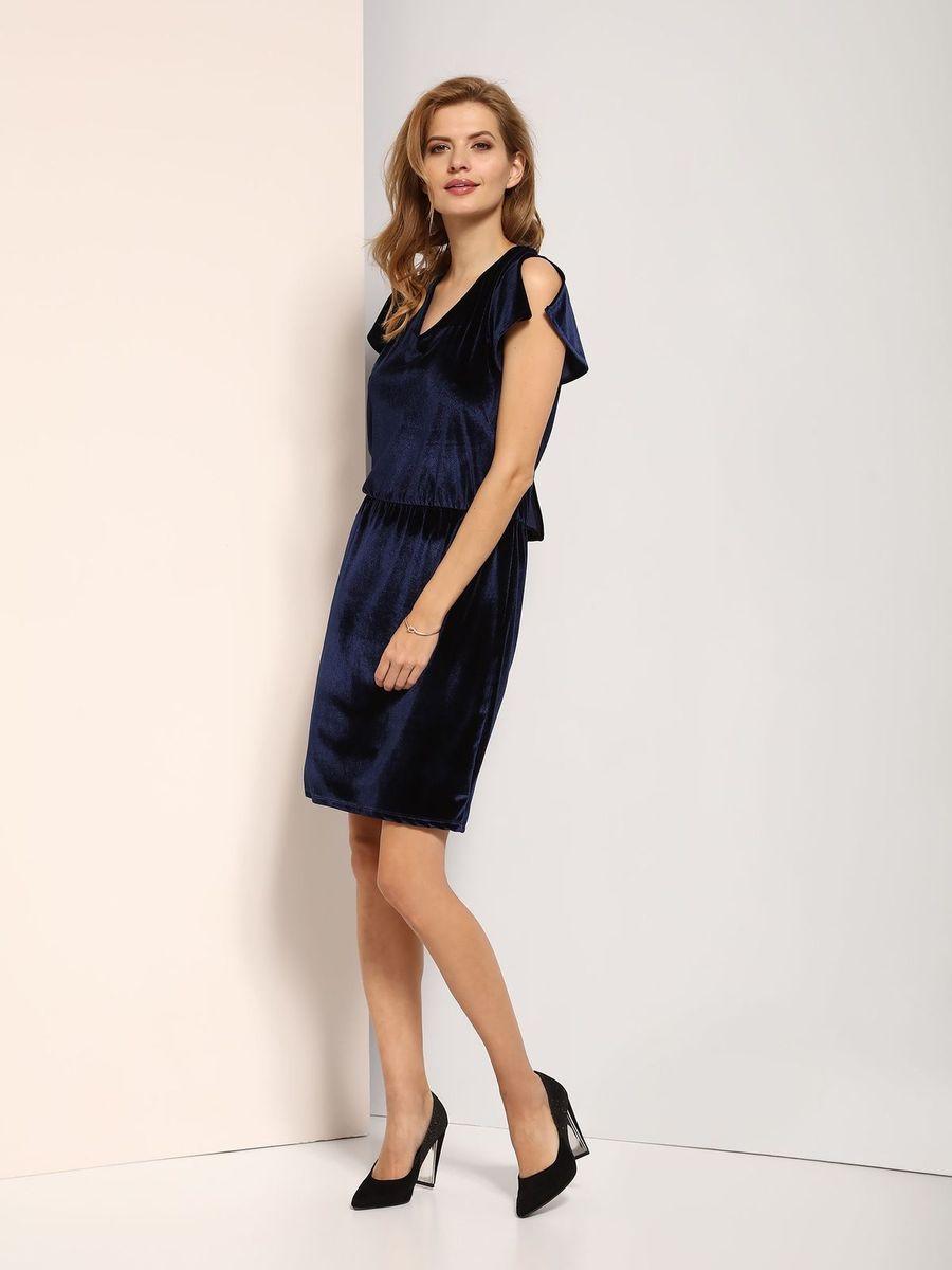 ПлатьеSSU1770GRПлатье Top Secret выполнено из полиэстера и эластана. Модель с V-образным вырезом горловины.