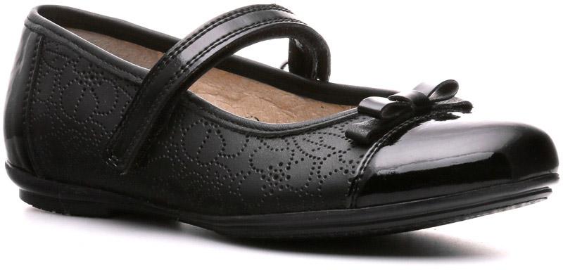 Туфли842102ЧНЛюбая маленькая модница в туфлях Sinty-D на низком каблуке без устали проходит целый день. Элегантные линии, безупречное сочетание кожи и лака, базовый цвет сделают эту модель линии Business соответствующей даже самому строгому дресс-коду гимназии, торжественного или делового мероприятия для детей. Концепция этой пары обуви — стиль и удобство.