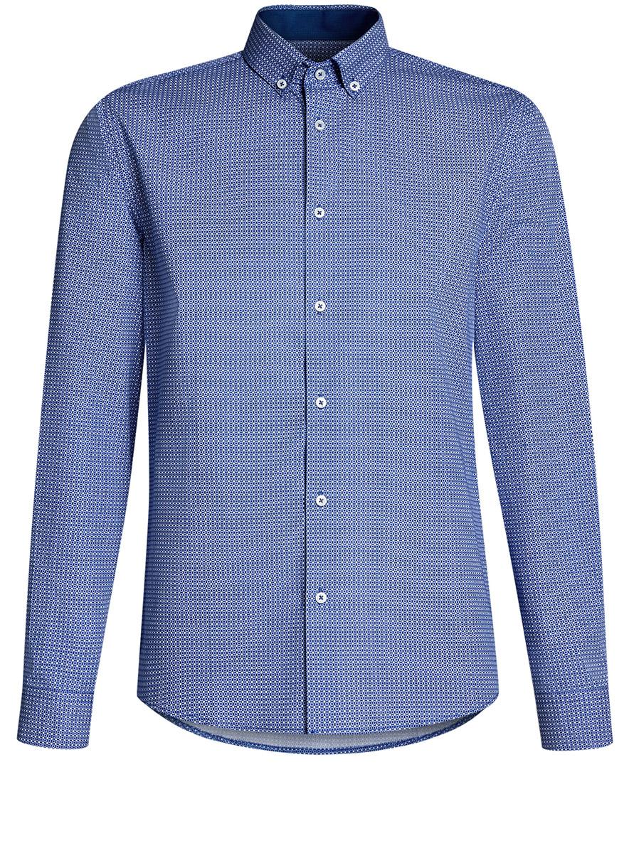 Рубашка3L110243M/19370N/1075FРубашка приталенная с пуговицами на воротнике