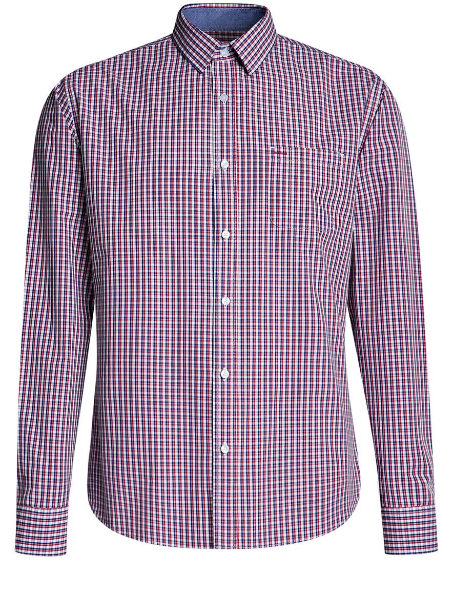 Рубашка3L110255M/44094N/1045CРубашка приталенного силуэта с нагрудным карманом