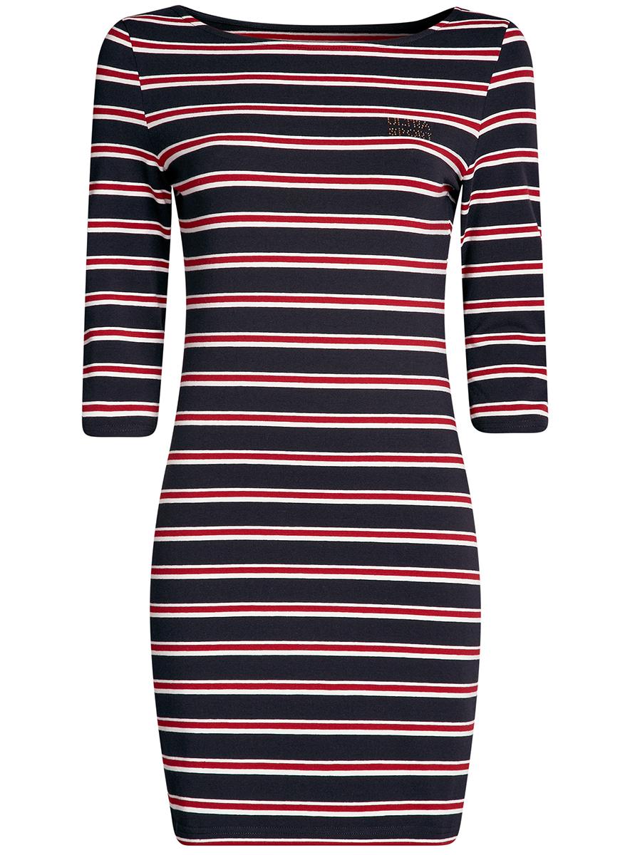 Платье14001071-10/46148/7529SПлатье трикотажное в полоску