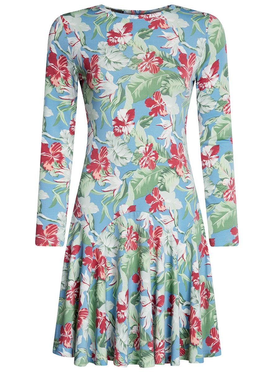 Платье14011015/46384/4500NПлатье трикотажное с расклешенной юбкой