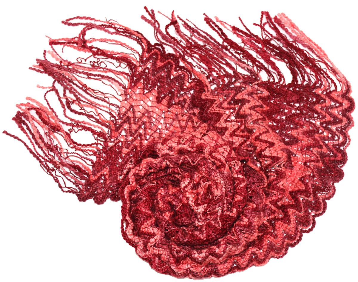 Шарф419175Женский шарф Ethnica, изготовленный из шерсти и акрила, подчеркнет вашу индивидуальность. Благодаря своему составу, он легкий, мягкий и приятный на ощупь. Изделие оформлено оригинальным принтом и дополнено кисточками. Такой аксессуар станет стильным дополнением к гардеробу современной женщины.