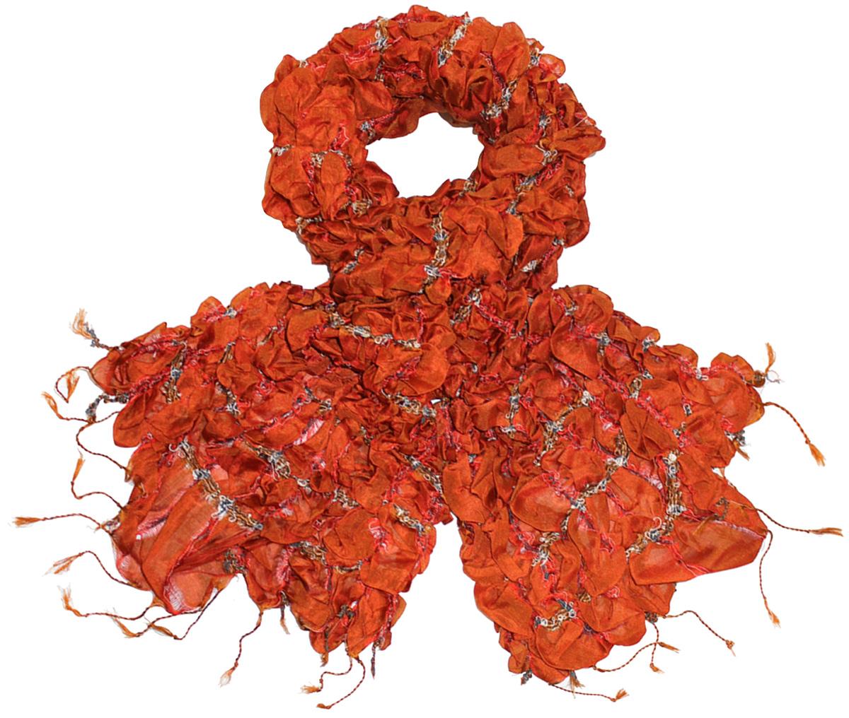 Шарф511250Женский шарф Ethnica, изготовленный из 100% шелка, подчеркнет вашу индивидуальность. Благодаря своему составу, он легкий, мягкий и приятный на ощупь. Изделие выполнено в оригинальном дизайне и дополнено кисточками. Такой аксессуар станет стильным дополнением к гардеробу современной женщины.