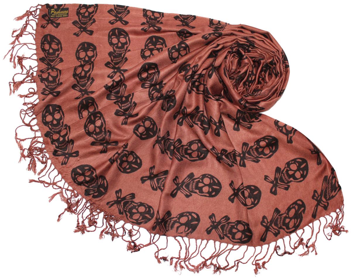 Шарф634075Женский шарф Ethnica, изготовленный из 100% вискозы, подчеркнет вашу индивидуальность. Благодаря своему составу, он легкий, мягкий и приятный на ощупь. Изделие оформлено оригинальным принтом в виде черепов. Такой аксессуар станет стильным дополнением к гардеробу современной женщины.