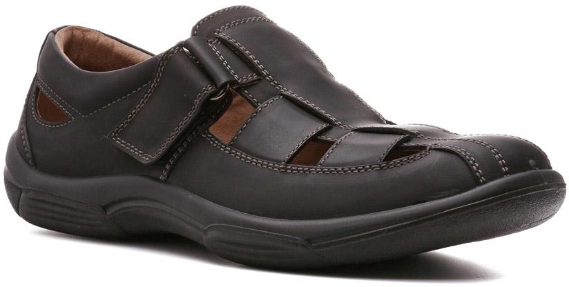 Сандалии185018ТБМодель сандалий Jud, у которых верх из нубука сливается с полиуретановой подошвой такого же цвета, — универсальная летняя обувь, способная стать завершающим штрихом гардероба в стиле кэжуал. Эффект закрытого верха достигается за счет широких ремней. Застежки на липучках повышают удобство обувания и обеспечивают точную подгонку под подъем стопы.