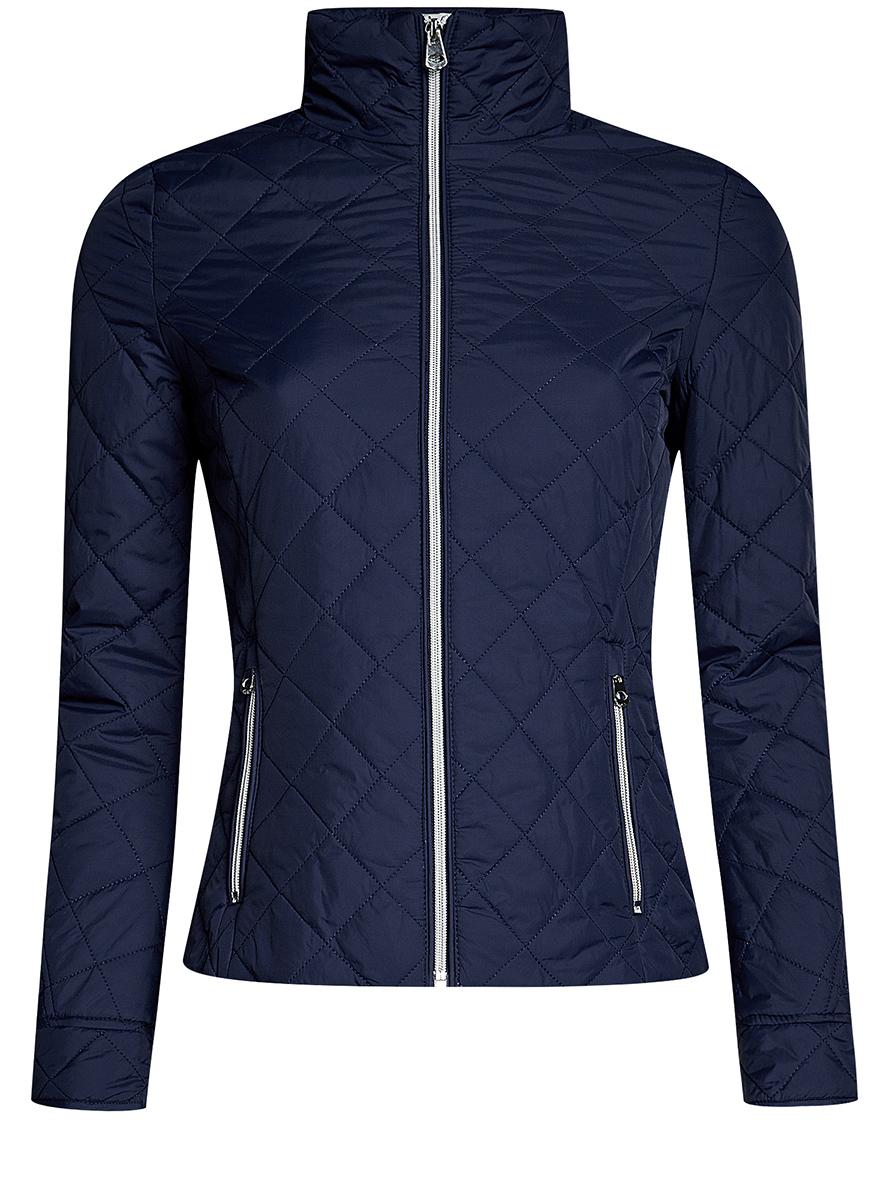 Куртка10204051/33744/4500NЖенская стеганая куртка oodji Ultra выполнена из высококачественного материала, в качестве подкладки используется полиэстер. Утеплитель - синтепон. Модель с воротником-стойкой застегивается на застежку-молнию. Спереди расположено два втачных кармана на застежках-молниях.