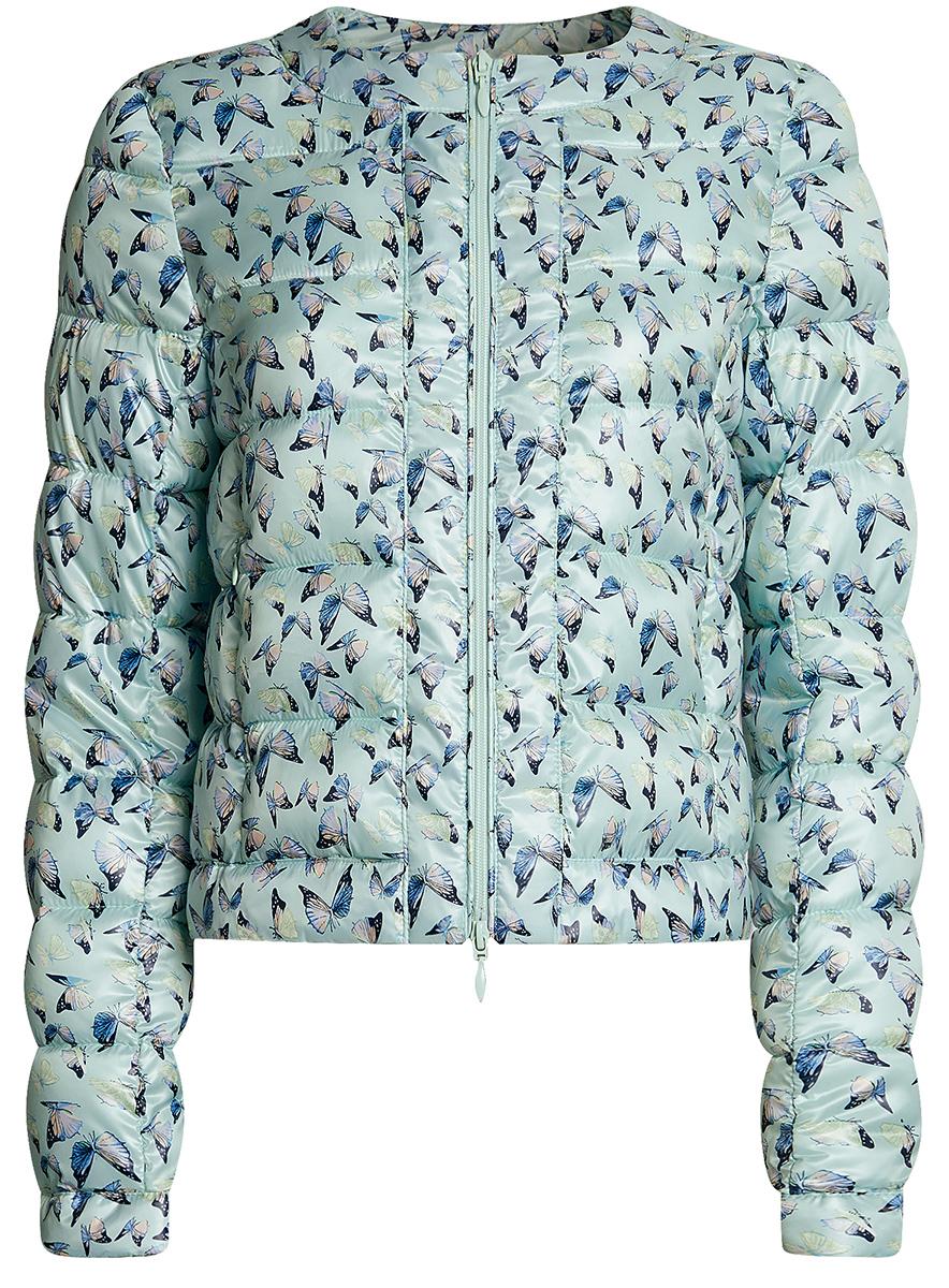 Куртка10203050-1B/42257/296EFКуртка стеганая с принтом