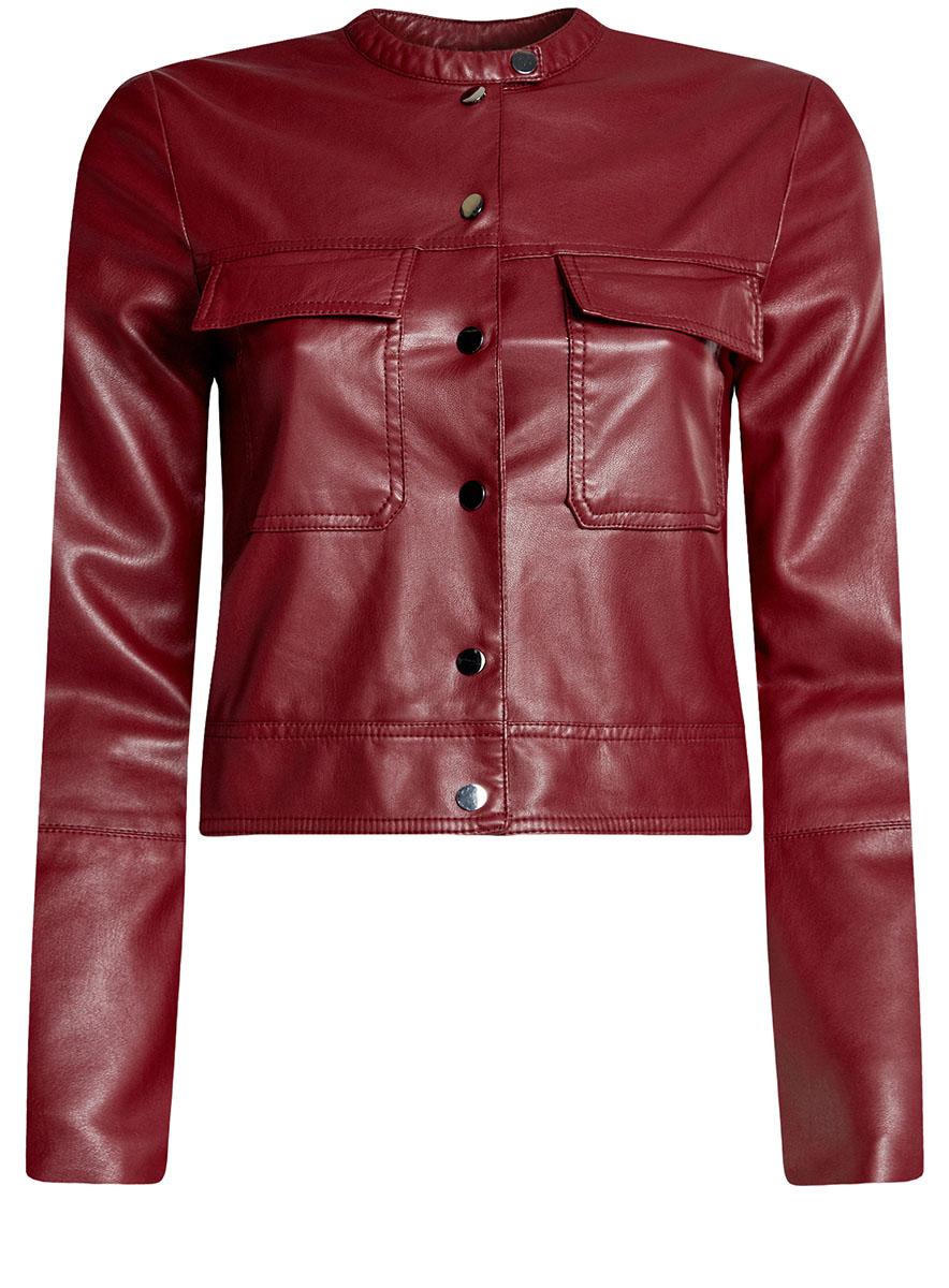 Куртка18A03004/43578/2900NКуртка из искусственной кожи с нагрудными карманами