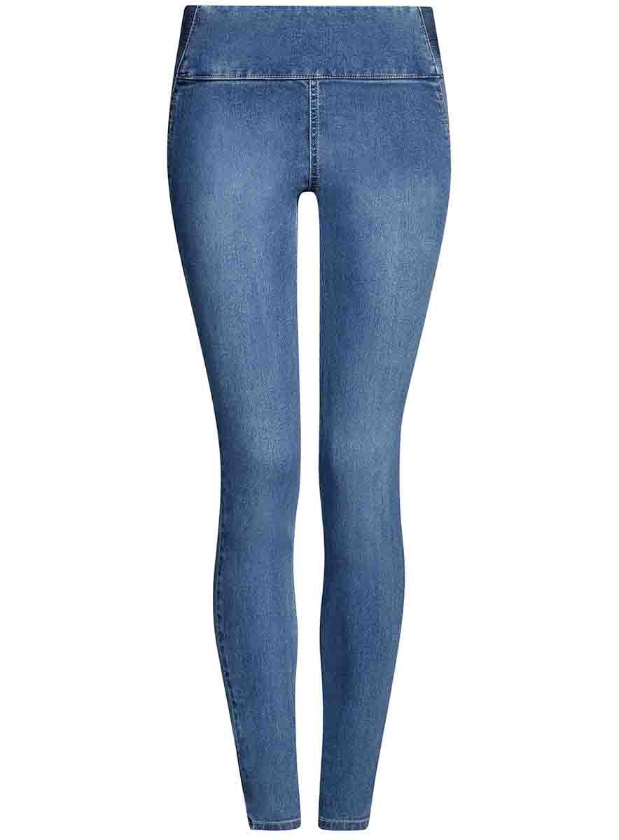 Джинсы22104026-2B/46250/7000WЖенские джинсы oodji Collection выполнены из высококачественного материала. Зауженная модель средней посадки. Пояс сзади дополнен эластичной вставкой.