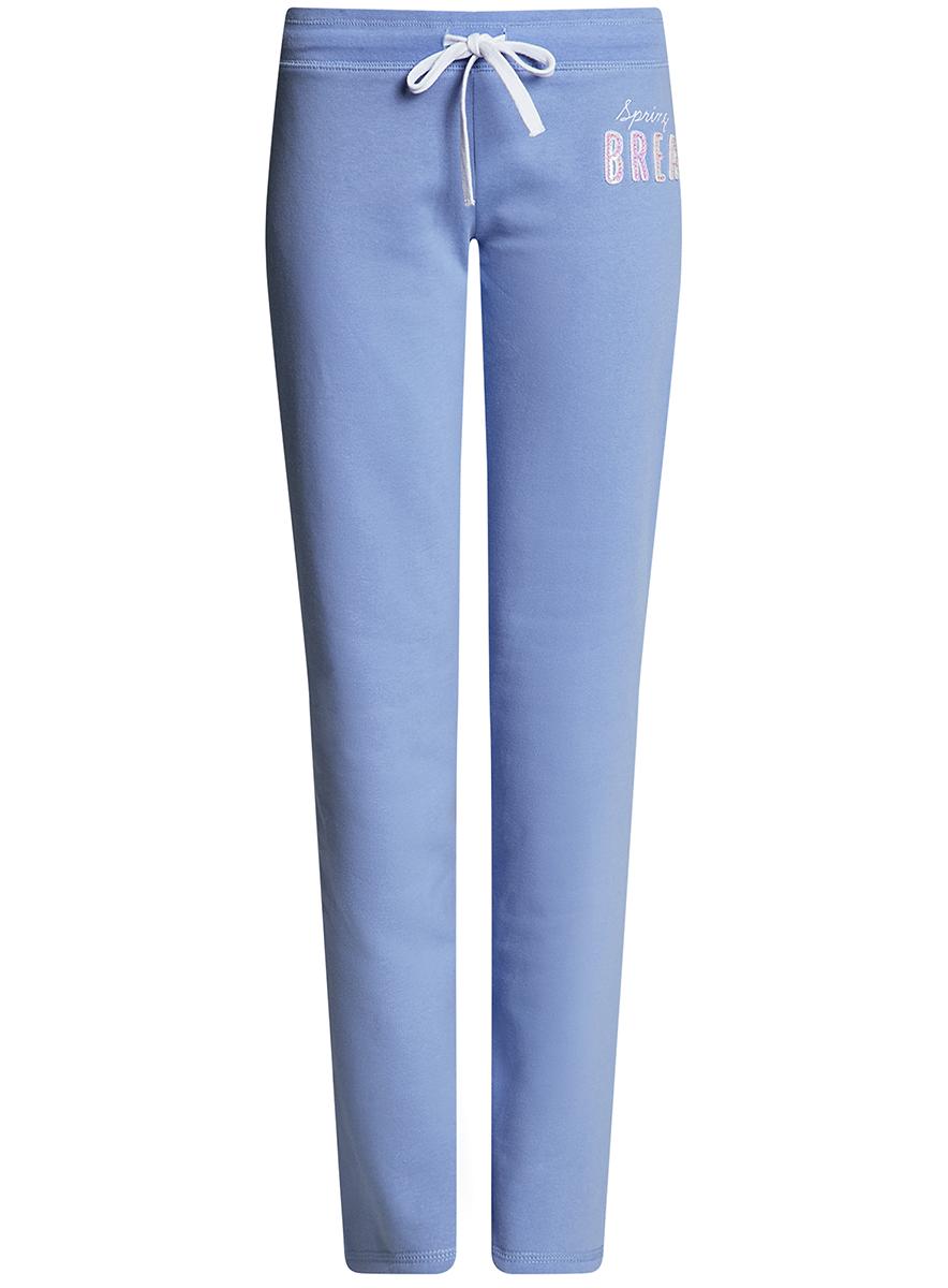Брюки спортивные16700045-2B/46949/1200NЖенские спортивные брюки oodji Ultra, выполненные из натурального хлопка, великолепно подойдут для отдыха и занятий спортом. Модель дополнена широкой эластичной резинкой на поясе. Объем талии регулируется с внешней стороны при помощи шнурка-кулиски.