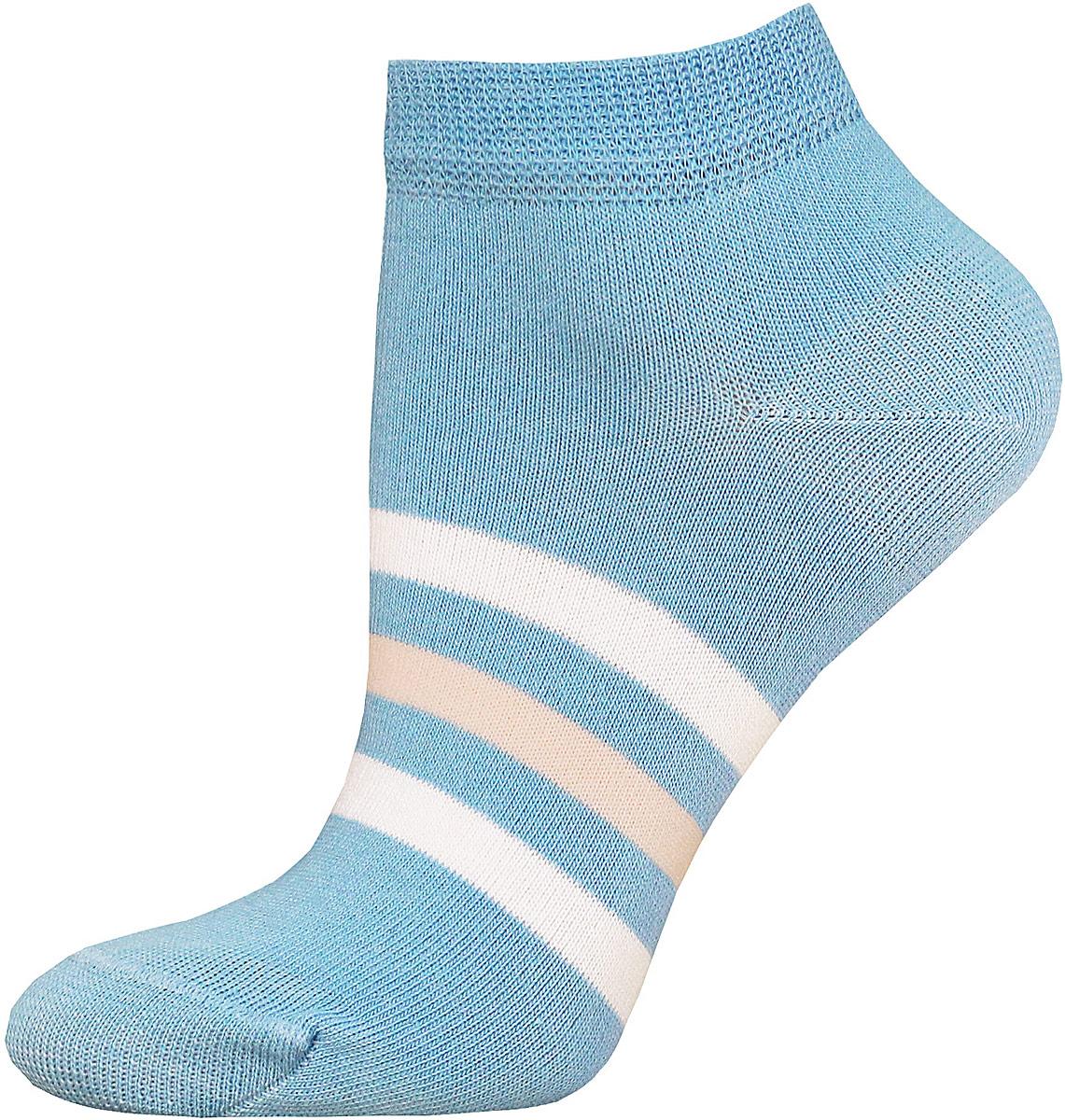Носки14С1101/017Женские носки Брестские Classic выполнены из хлопка с добавлением полиэстера и эластана. Укороченная модель оформлена полосками на стопе.