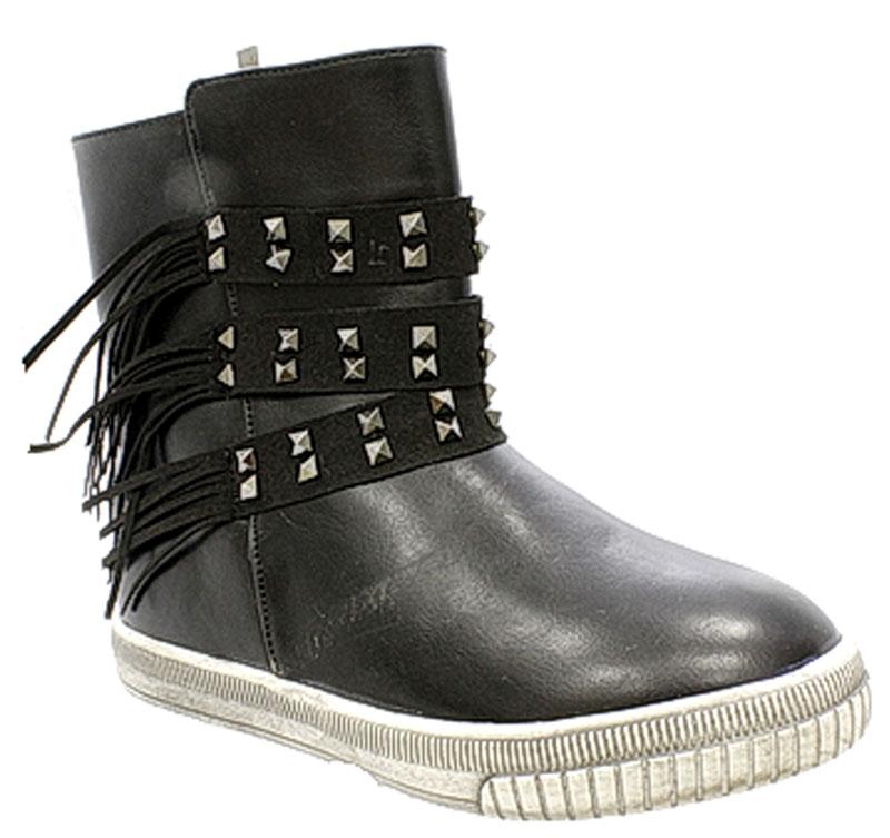 Ботинки0108-1Очаровательные детские ботинки от Camidy заинтересуют вашу дочурку с первого взгляда. Модель выполнена из искусственной кожи. Подкладка и стелька из мягкой байки, обеспечат комфорт и уют. Модель оформлена ремешками с металлическими клепками. Ботинки застегиваются на застежку-молнию. Подошва оснащена рифлением для лучшей сцепки с поверхностью. Удобные ботинки - необходимая вещь в гардеробе каждого ребенка.