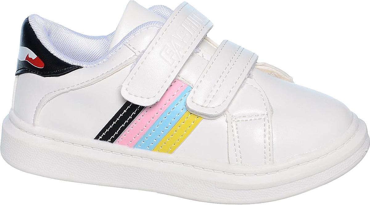 КроссовкиB-0528-BКроссовки для девочки Tom&Miki изготовлены из качественной искусственной кожи. Модель оформлена яркими вставкам из искусственной кожи. Липучки надежно зафиксируют обувь на ноге. Мягкая подкладка выполнена из кожи и текстиля.