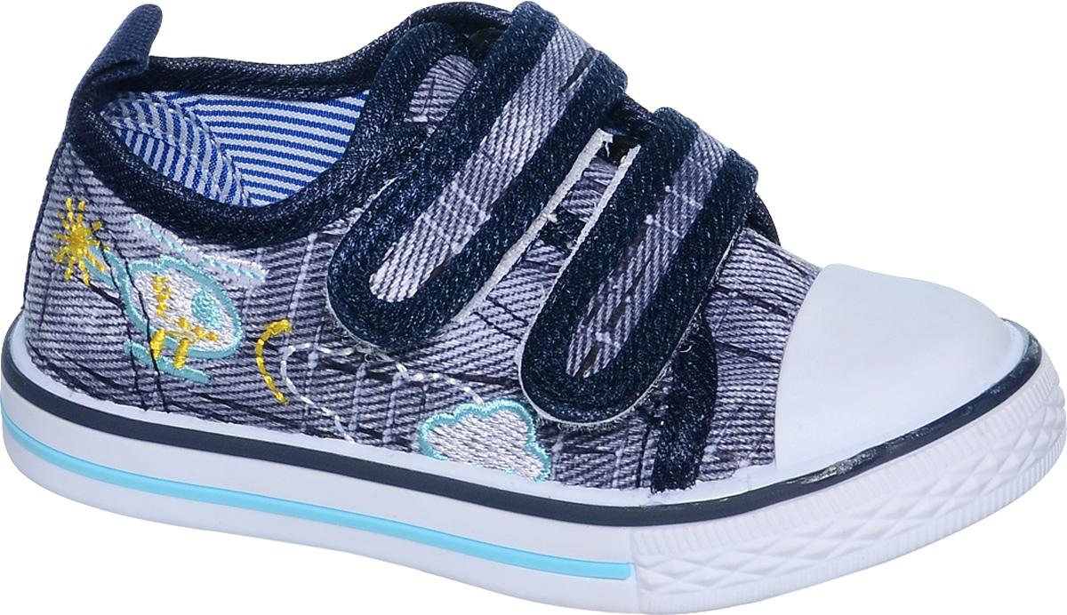 КедыB-0917Кеды для мальчика Tom&Miki изготовлены из качественного текстиля. Модель оформлена вышивкой и дополнена на мыске практичной прорезиненной накладкой. Липучки надежно зафиксируют обувь на ноге. Мягкая подкладка выполнена из кожи и текстиля. Такие кеды - отличный вариант на каждый день.