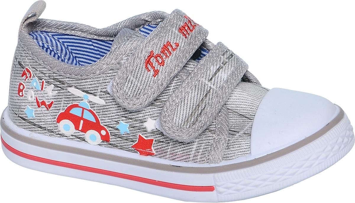 КедыB-0918Кеды для мальчика Tom&Miki изготовлены из качественного текстиля. Модель оформлена оригинальным принтом и дополнена на мыске практичной прорезиненной накладкой. Липучки надежно зафиксируют обувь на ноге. Мягкая подкладка выполнена из кожи и текстиля. Такие кеды - отличный вариант на каждый день.
