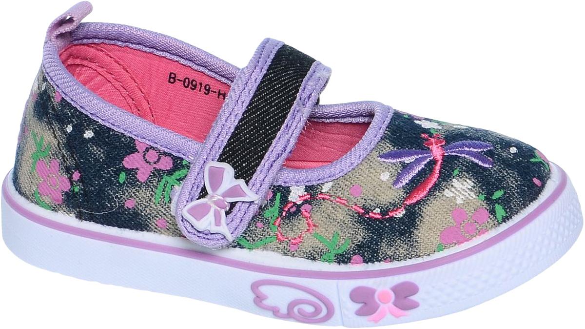 КедыB-0919Удобные кеды от Tom&Miki придутся по душе вашей юной моднице. Модель выполнена из качественного текстиля. На заднике предусмотрена петелька для удобства обувания. Ремешок с застежкой-липучкой прочно закрепит модель на ножке. Подкладка и стелька из текстиля и натуральной кожи обеспечивают комфорт при носке. Гибкая мягкая подошва обеспечивает идеальное сцепление с разными поверхностями.
