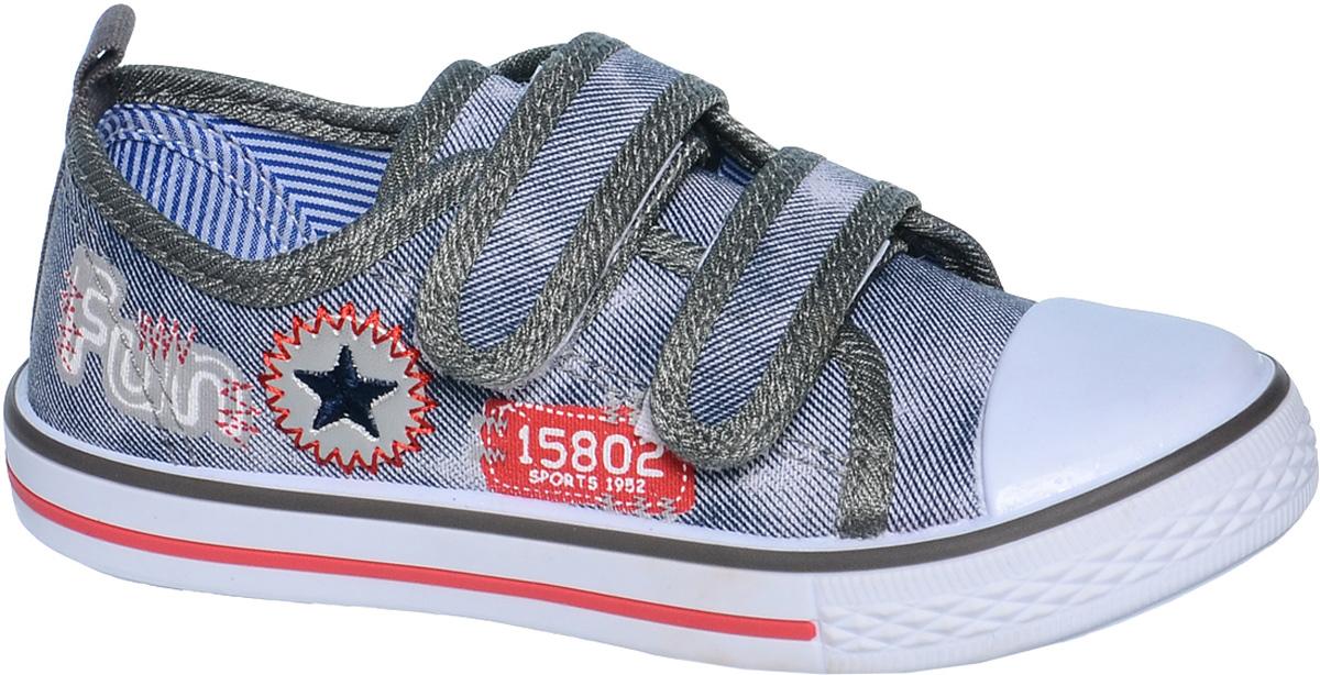 КедыB-0996-AКеды для мальчика Tom&Miki изготовлены из качественного текстиля. Модель оформлена вышивкой и дополнена на мыске практичной прорезиненной накладкой. Липучка и резинки надежно зафиксируют обувь на ноге. Мягкая подкладка выполнена из кожи и текстиля. Такие кеды - отличный вариант на каждый день.