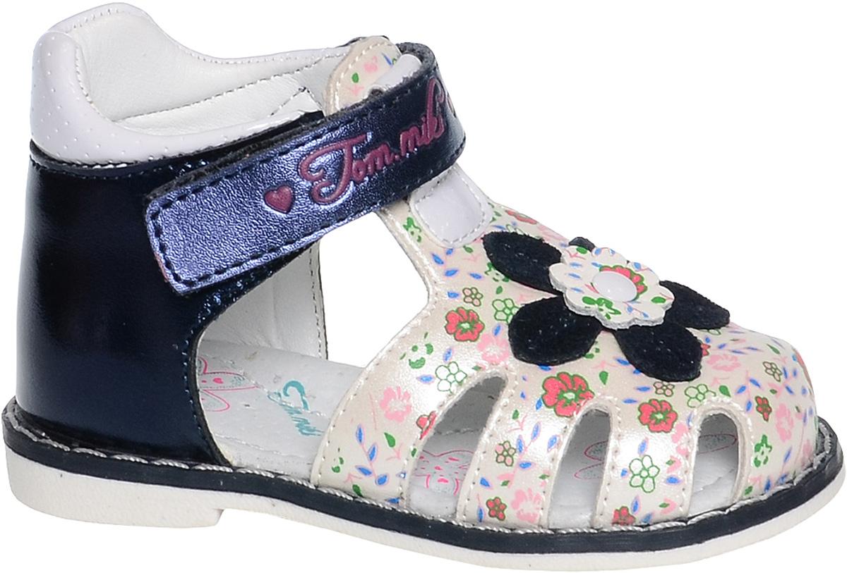 СандалииB-1120-AУдобные и красивые сандалии от Tom&Miki придутся по душе вашей девочке. Модель выполнена из качественной комбинированной кожи. Внутренняя часть и стелька изготовлены из натуральной кожи. Ремешок с застежкой-липучкой прочно закрепит модель на ножке.