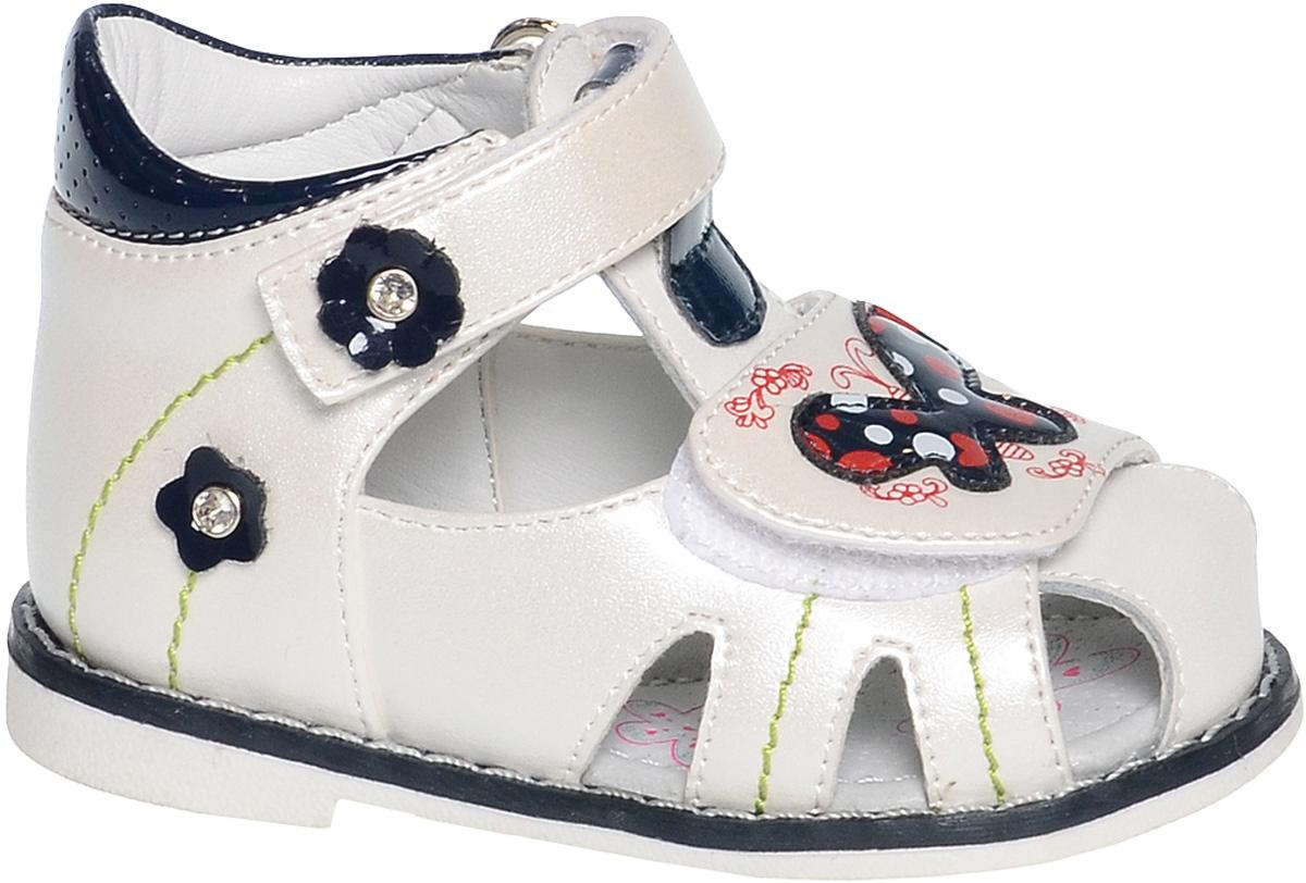 СандалииB-1125-BУдобные и красивые сандалии от Tom&Miki придутся по душе вашей девочке. Модель выполнена из качественной комбинированной кожи. Внутренняя часть и стелька изготовлены из натуральной кожи. Ремешок с застежкой-липучкой прочно закрепит модель на ножке. Носочная часть, как и ремешок, дополнена липучками.