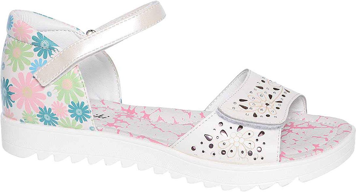 БосоножкиB-1145-BПрактичные и красивые босоножки от Tom&Miki придутся по душе вашей девочке. Модель выполнена из комбинированных материалов. Внутренняя часть и стелька изготовлены из натуральной кожи. Ремешок с застежкой-липучкой прочно закрепит модель на ножке. Подошва оснащена рифлением для лучшего сцепления с различными поверхностями.