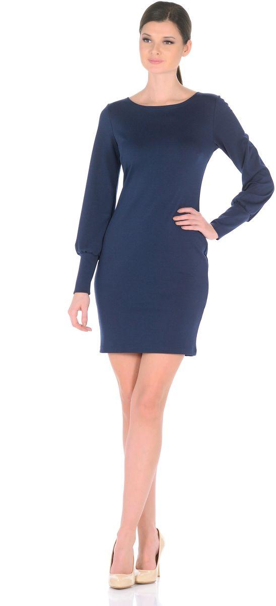 3187-11Создавать женственные образы каждый день легко, если в Вашем гардеробе есть это повседневное платье от Rosa Blanco. Нарочито лаконичная модель полуприталенного силуэта с классическим вырезом-лодочкой, искусно обрисовывающая изящные изгибы фигуры, приобретает особую выразительность благодаря длинным рукавам расширенным к низу со сборкой по широкой манжете. В области груди вытачки для оптимальной посадки по фигуре. Дополняя платье различными аксессуарами, можно легко трансформировать повседневный наряд в вечерний. Длина изделия 92-95 см. Ткань плотный трикотаж с высоким содержанием вискозы. Состав ткани: 78% вискоза, 19% полиэстер, 3% эластан. Рост модели на фото 170 см (+ каблук).