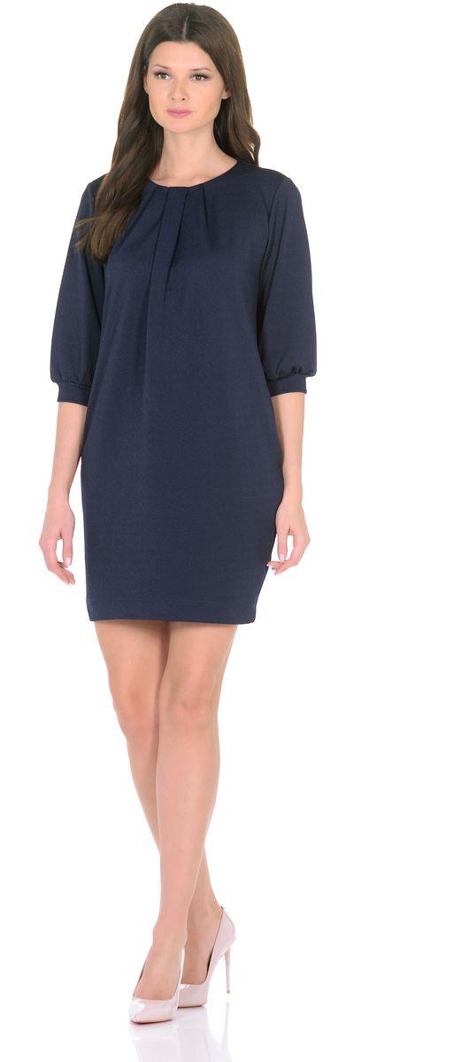 Платье3285-3Трикотажное платье от Rosa Blanco совмещает в себе комфорт и элегантность. Платье идеально подходит как для офиса, так и для более непринужденной обстановки. Модель нарочито лаконичного прямого кроя наделена неповторимой выразительностью благодаря фактурной ткани. Складки у круглого выреза и рукава ? на манжетаж подчеркивают женственную элегантность модели. В боковом шве расположены карманы. Простота кроя и минимум отделки позволят Вам поэкспериментировать с аксессуарами. Создавайте Ваш стиль с удовольствием. Ткань - плотный трикотаж, характеризующийся эластичностью, растяжимостью и мягкостью. Состав ткани: 72% вискоза, 25% полиэфир, 3% лайкра. Рост модели на фото 170 см (+ каблук).