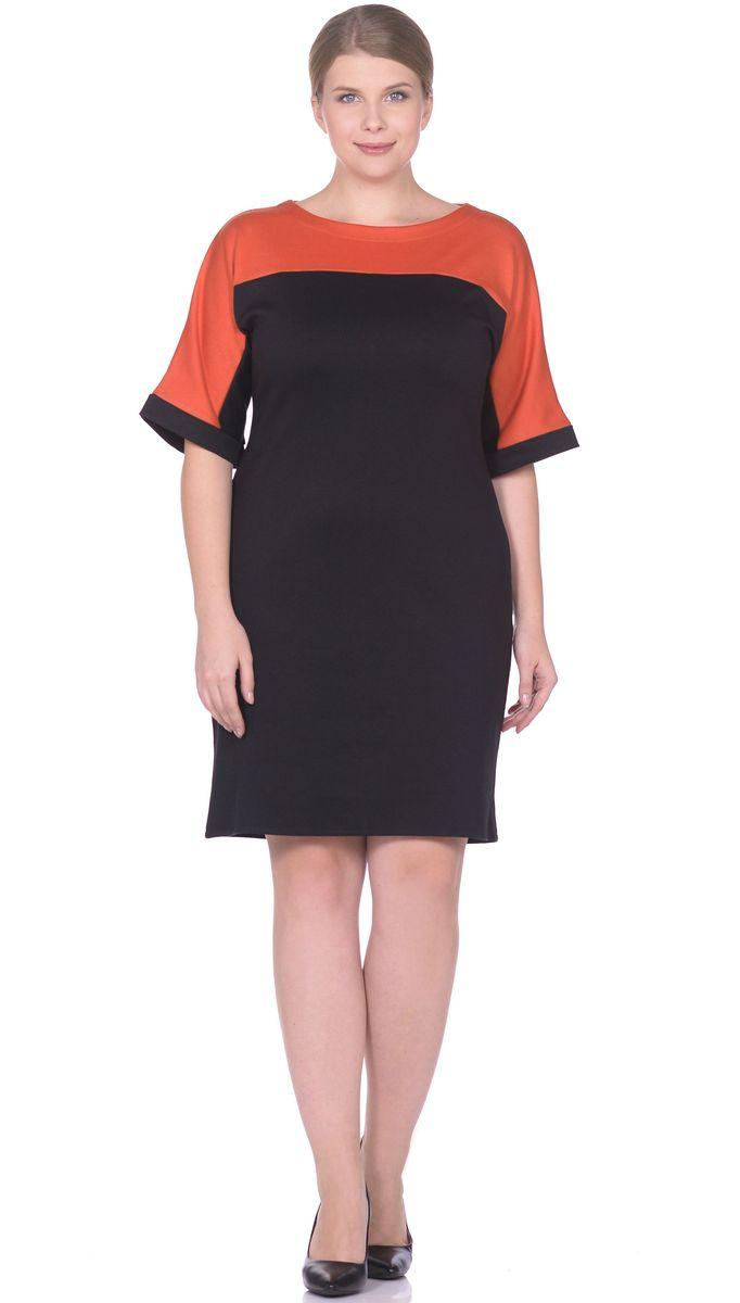 Платье33010-1-40Элегантное платье построенное на сочетнии двух контрастных цветов. Рукав цельнокройный заканчивается манжетом из полотна основного цвета. Сочетание контрастных цветов позволяет с лёгкостью подобрать аксессуары. Вырез горловины лодочка. Рукав 1/2. Длина изделия 98-100 см. Ткань - плотный трикотаж, характеризующийся эластичностью, растяжимостью и мягкостью. Состав ткани: 78% вискоза, 19% полиэстер, 3% эластан. Рост модели на фото 173 см (+ каблук).